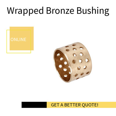 CuSn8,  Cylindrical Wrapped Bronze Bearings